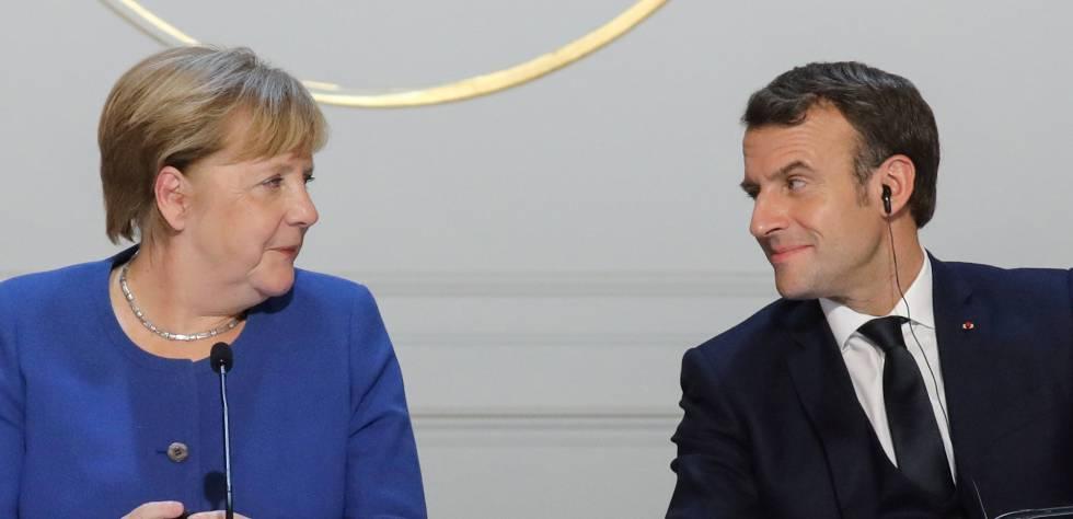 """""""Que gane el mejor"""": El reto que Angela Merkel le hace a Emmanuel Macron antes de la Champions"""