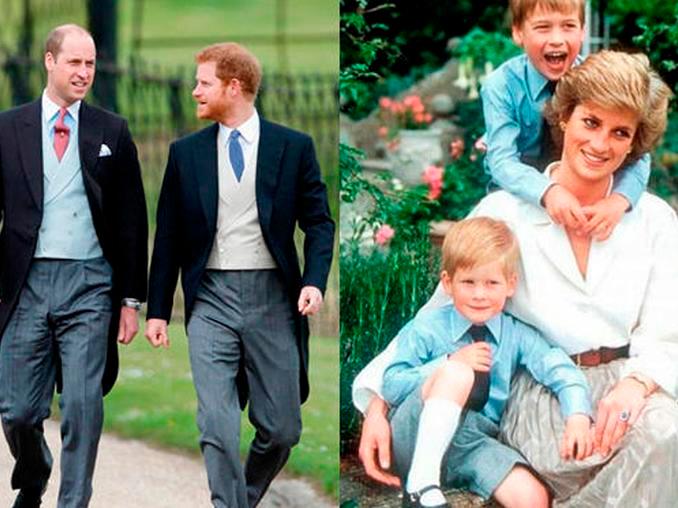 William y Harry vuelven a unirse en honor a Lady Di:  Inaugurarán estatua de la princesa Diana en el Palacio de Kensington