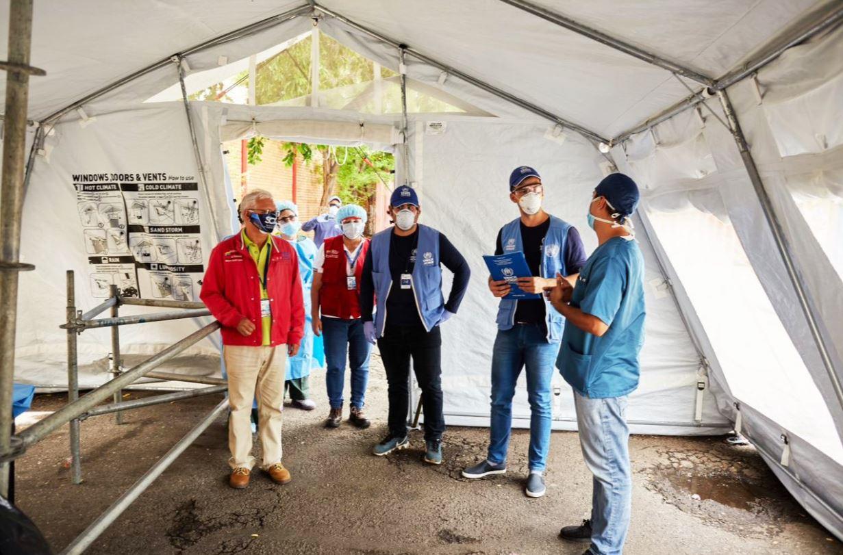 Acnur verifica el estado de las instalaciones destinadas a la atención de quienes ingresan por la frontera de Venezuela