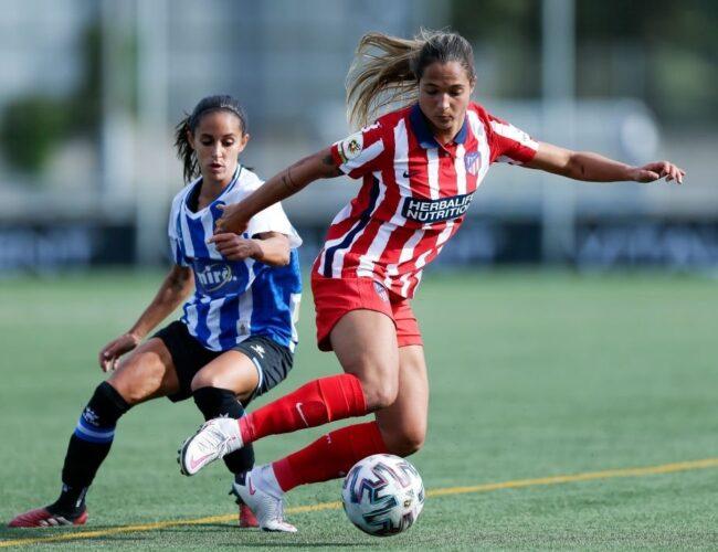 Deyna Castellano marcó su primer gol con el Atlético de Madrid