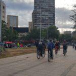 Miles de ciclistas recorren  Santiago de Chile a un año de la Primera Cicletada por la Dignidad