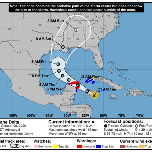Huracán Delta sube a categoría cuatro con pronóstico devastador para México