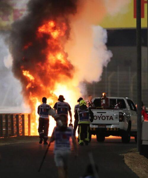 El terrorífico accidente con final milagroso de Grosjean en el GP de Bahréin