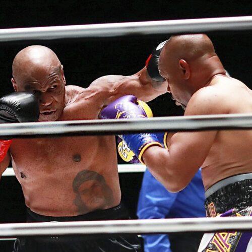 Mike Tyson y Roy Jones Jr empatan en combate de exhibición