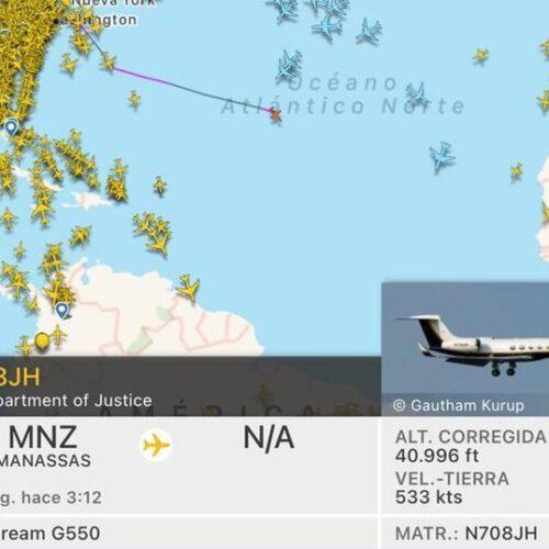 Aterriza en Cabo Verde avión oficial del Departamento de Justicia de EEUU