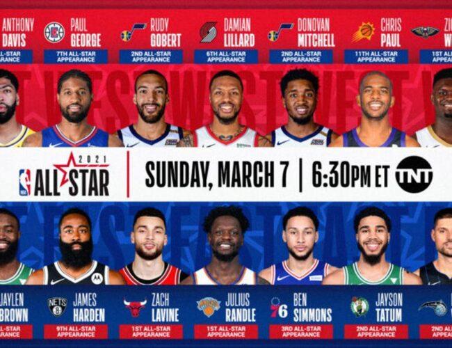 Definidos los jugadores reserva para el All Star Game 2021 de la NBA