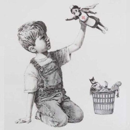 Pintura de Banksy recauda $23 millones para beneficencias de salud en Reino Unido