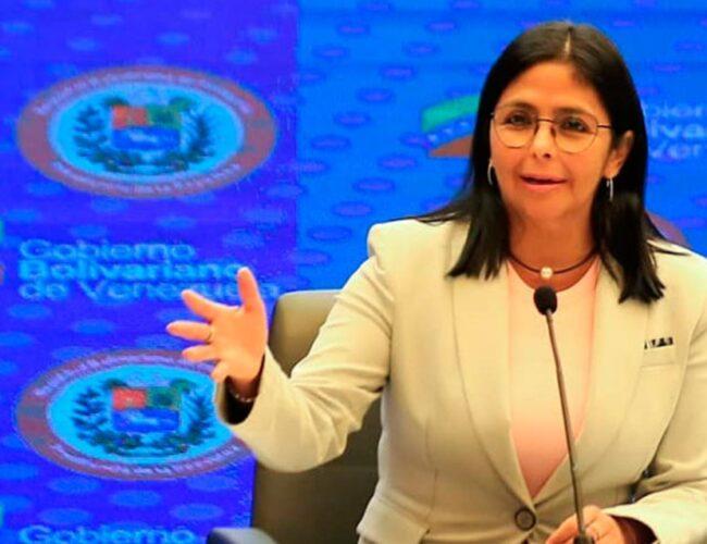 Delcy Rodríguez informó sobre la detección de 614 nuevos casos de covid-19 en Venezuela