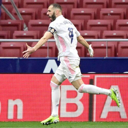Benzema rescata el empate en el derbi madrileño