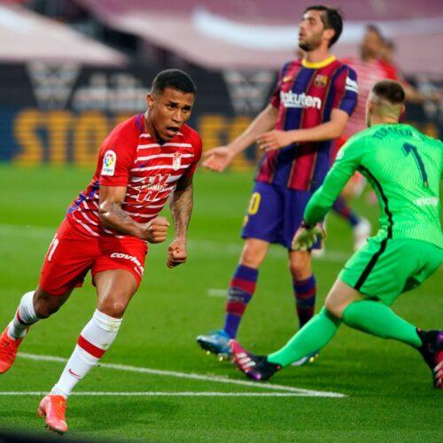 Con gol de Machis el Barcelona pierde ante el Granada y ya no puntea la Liga
