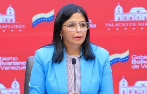 Delcy Rodríguez anunció que vacunación masiva en el país comenzará en segundo cuatrimestre del año