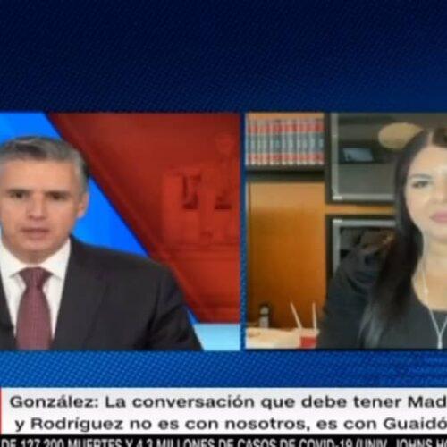 Indira Urbaneja: La flexibilización de sanciones norteamericanas solo lo puede garantizar Estados Unidos, no Juan Guaidó