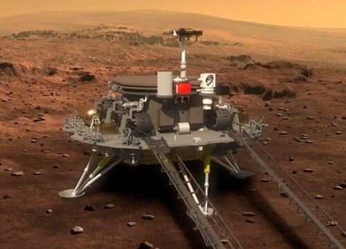 China aterriza con éxito su primera sonda espacial en Marte