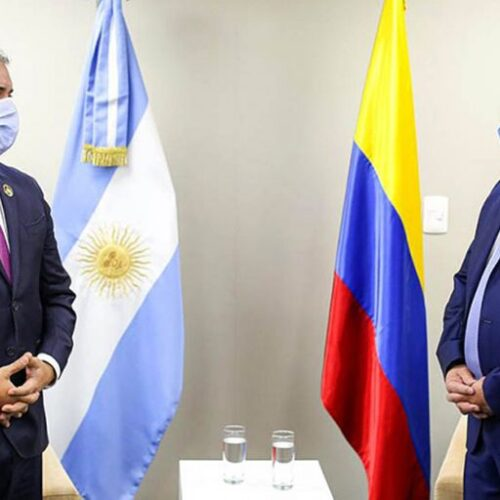 """Presidente Alberto Fernández expresó preocupación la """"represión desatada"""" en Colombia"""