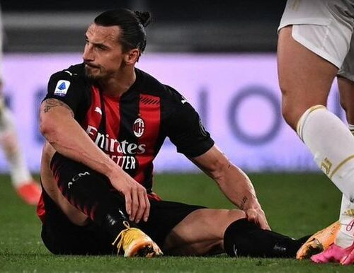 Ibrahimovic se perderá al menos dos partidos del Milan por lesión de rodilla