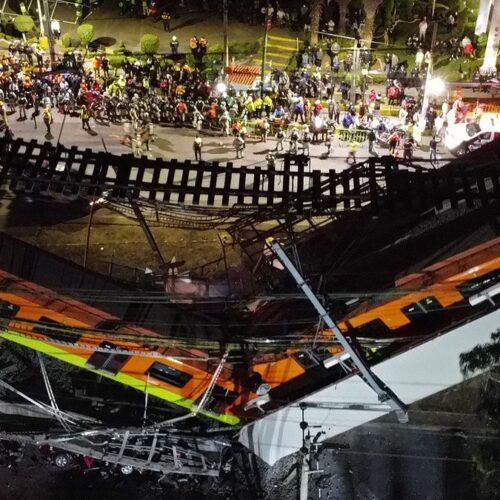 23 muertos y más de 70 heridos dejó el desplome de una vía del metro de Ciudad de México