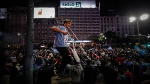 Así celebró Argentina la victoria de su selección en la Copa America