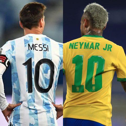 Brasil y Argentina se disputarán la final de la Copa América con Messi y Neymar al frente