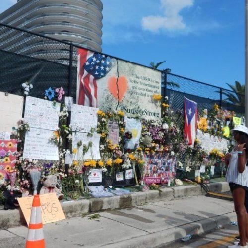 Familiares de la última víctima del derrumbe en Miami esperan sus restos