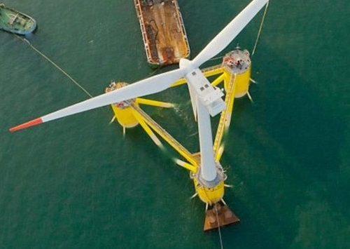 Terminó la construcción del mayor parque eólico marino flotante del mundo
