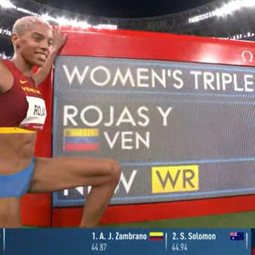 Yulimar Rojas es la primera mujer en romper récord mundial y olímpico en Salto Triple