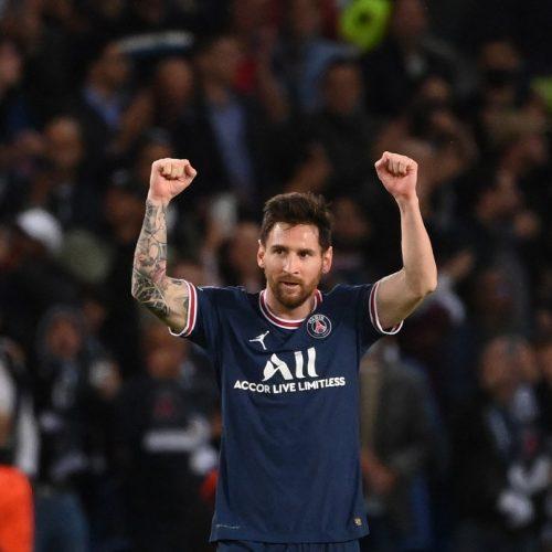 Messi marcó ante el Manchester City su primer gol con el PSG