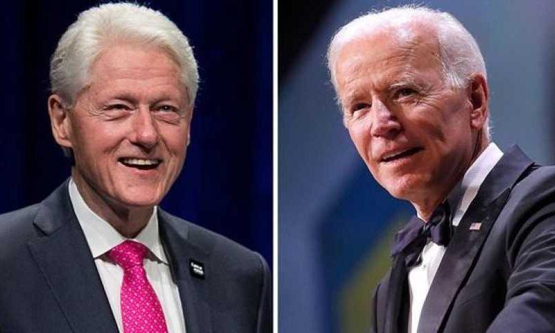 """Joe Biden llama a Bill Clinton y le desea una """"rápida recuperación"""""""