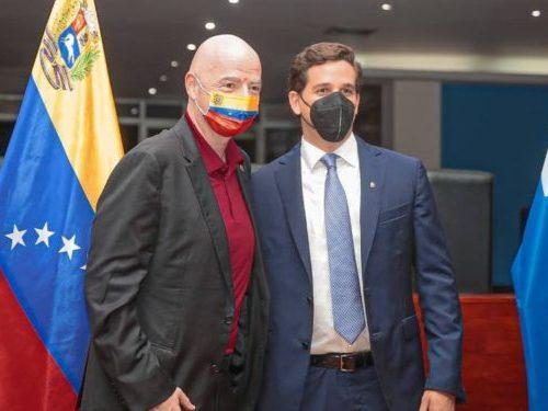 Presidente de la FIFA se encuentra en Venezuela para reuniones de trabajo con la FVF
